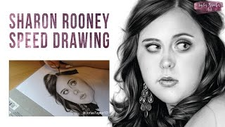 Speed Drawing of Sharon Rooney - By Taylor Brooker