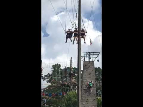 Pineywoods Powerplus 2016 Chris Rian and Stormy on the swing