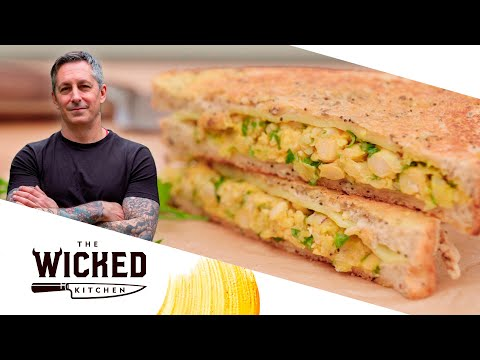 Vegan Grilled Cheese Chickpea Sandwich | The Wicked Kitchen