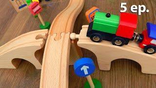 Видео для детей Все серии про деревянные игрушки машинки и поезда. Мультики Железная дорога-2
