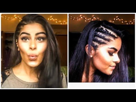Cornrows (Tight Braids) on Side of Head with Straightening Techniques | AarushiBeauty |