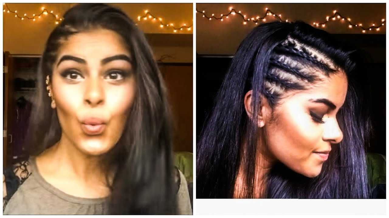 Hairstyles Braids On The Side: Cornrows (Tight Braids) On Side Of Head With Straightening