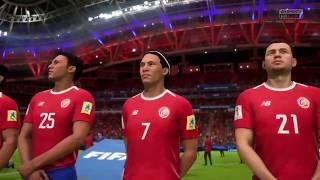 FIFA 18 Costa Rica contra Bélgica