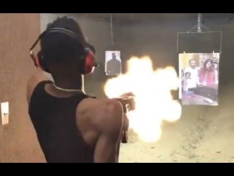 "22 Savage ""Has Better Aim Than 21 Savage Blast Draco Clip At Gun Range"""