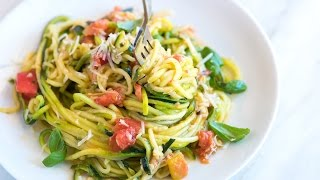Guilt-Free Garlic Parmesan Zucchini Noodles Pasta Recipe - How to Make Zucchini Noodles
