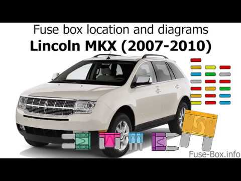 fuse box location and diagrams: lincoln mkx (2007-2010)