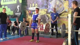 330 Корниенко Олег. Становая тяга 190 кг. Кубок Украины 2015 (UPC)