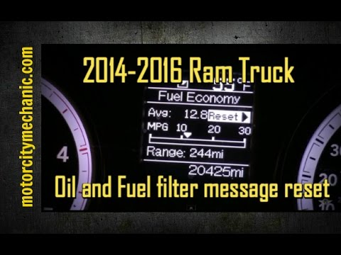 2014 and 2015 Ram 67 liter diesel fuel filter and oil change due