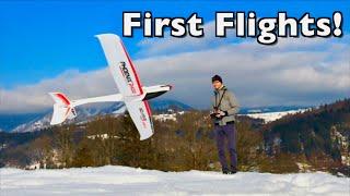Volantex Phoenix 2400 RC E Glider - First 3 Flights 🇸🇮