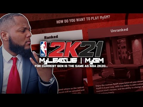 Download MYGM & MYLEAGUE FOR NBA 2K21 CURRENT GEN IS THE SAME AS NBA 2K20... 😔