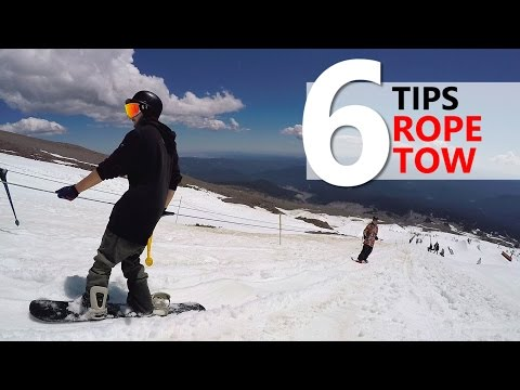 6 Tips for Riding the Rope Tow - Beginner Snowboarding