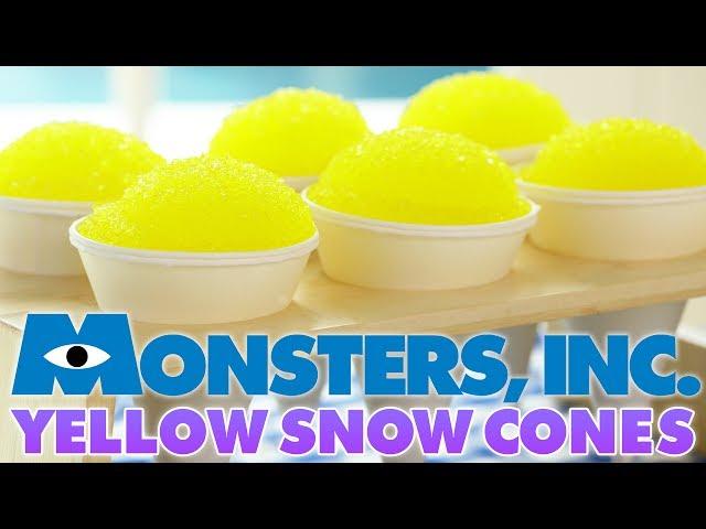 MONSTERS INC YELLOW SNOW CONES - NERDY NUMMIES