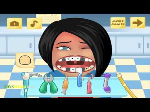 Pop Star Dentist scaling and cleaning game