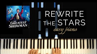 Greatest Showman - Rewrite the Stars (Easy Piano Tutorial)