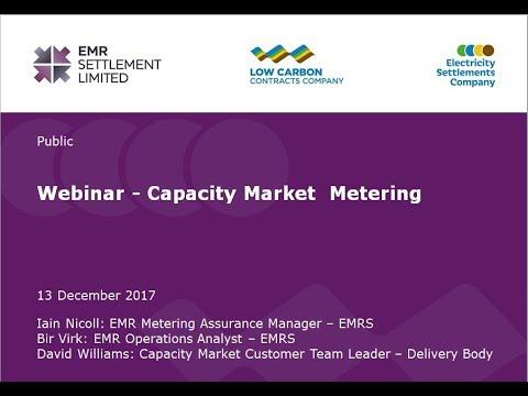 EMRS webinar: a focused session on Capacity Market Metering