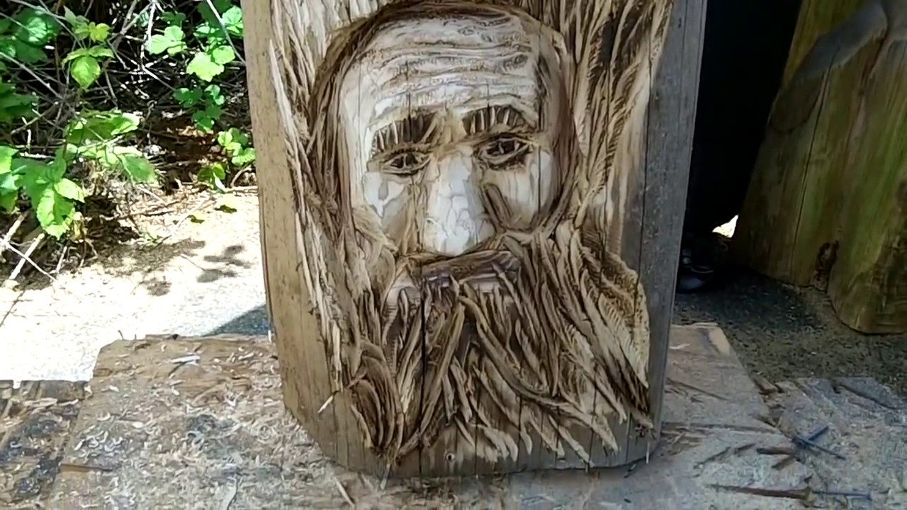 Lets carve a woodspirit chainsaw carving youtube