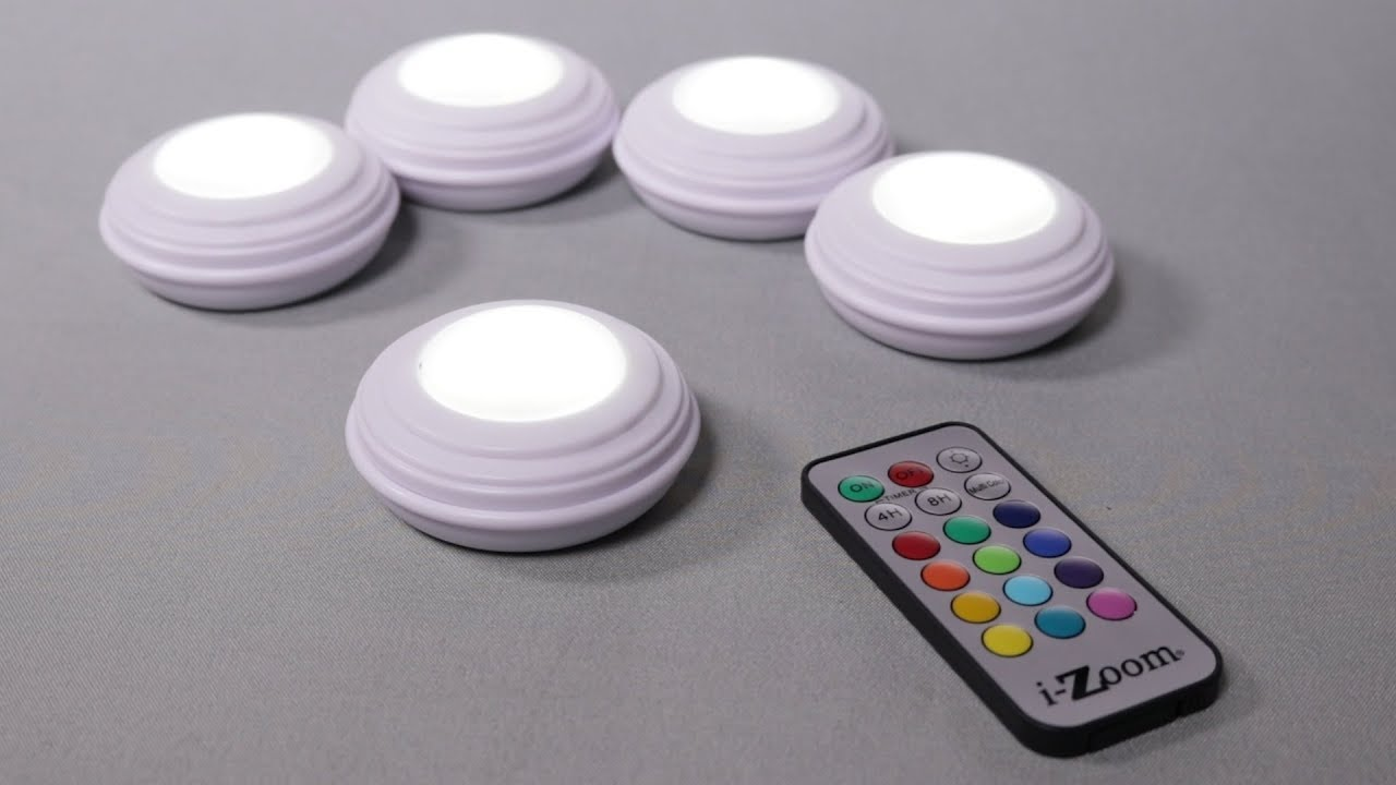 5pk I Zoom Wireless Led Accent Lights 12 Colors Of Ambience Youtube