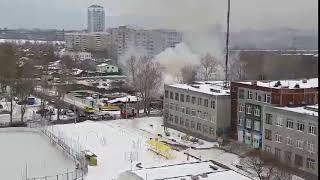 На ВИЗе сгорел частный жилой дом