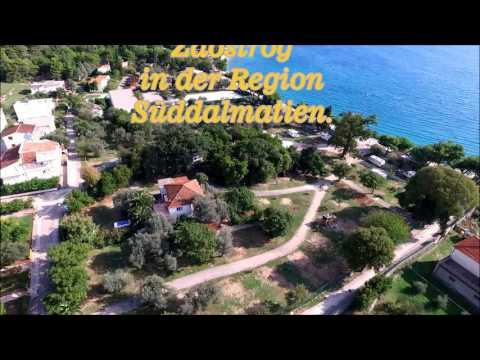 """Zaostrog """"Kroatien"""" mit dem Campingplatz """"Camp Viter""""  gefilmt mit einem DJI Inspire 1"""