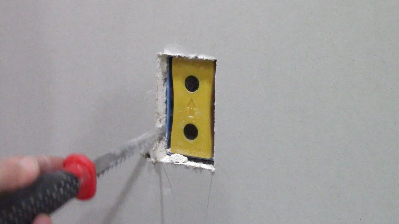 How To Cut Out Drywall Electrical Outlet Boxes With Blind