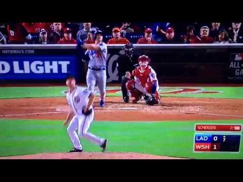 Joc Pederson Home Run 2016 NLDS Game 5 Vs Nationals Scherzer