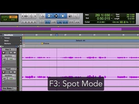 Pro Tools Edit Modes and Edit Tools