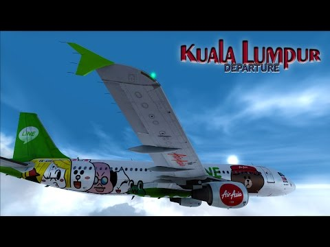 "✈ |FSX| Air Asia ""Line"" A320 Rainy Departure Kuala Lumpur"