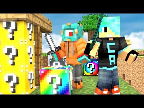 LUCKY BLOCKS IN BED WARS! | Minecraft w/ Gamer Chad! | MicroGuardian