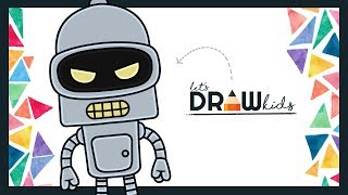 How To Draw Bender   Drawing Futurama   Chibi Drawing