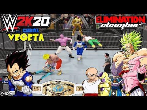 "WWE 2K16: ""Vegeta VS Bills,Golden Freezer y broly"" - (Chamber Elimination 2016)"