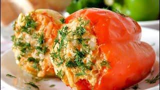Перец фаршированный с мясом и рисом! Рецепт приготовления!