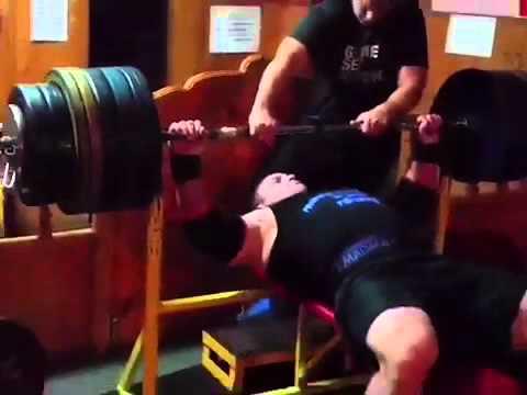280kg / 616 lbs - Bench Press Krzysztof Radzikowski -  October 2015, benchpress