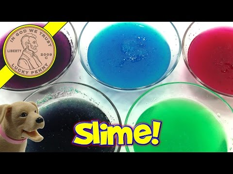 Slime Baff, Oozy Red, Gunky Green & Goo Blue
