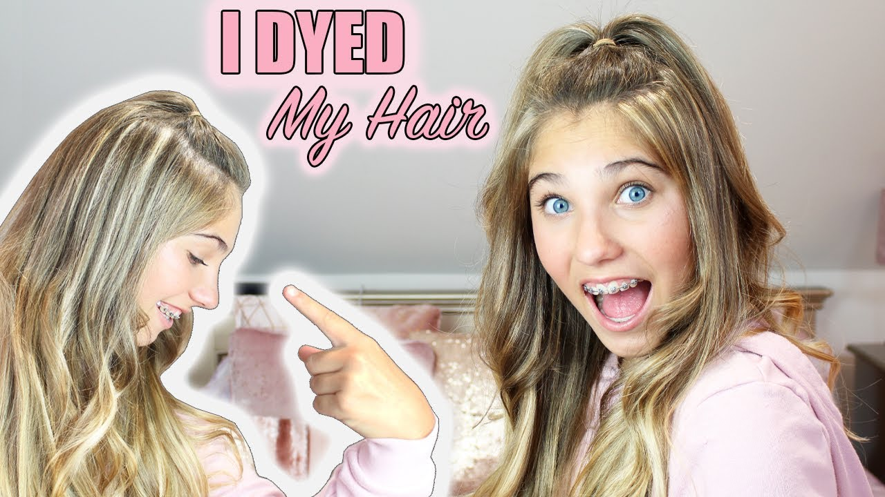 I Dyed My Hair | My First HIGHLIGHTS | Rosie McClelland