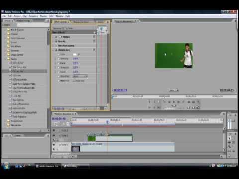 Using Chroma Key in Adobe Premiere Pro CS3