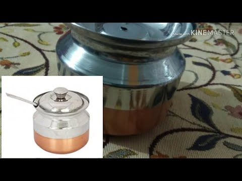 Ghee Pot S3, Steel & Copper Bottom Oil Container, 340 ml