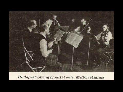 Mozart Quintet in C, K. 515 (Budapest Qt. & Katims, 1945)