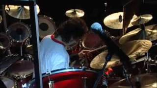 Rush  YYZ cover song... Mike Portnoy , Paul Gilbert , and Sean Malone.
