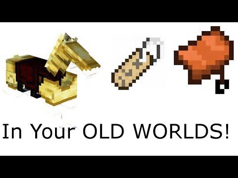 How To Get Horse Armor, Saddles, And Name Tags In Old Survival Worlds: Minecraft Xbox 360