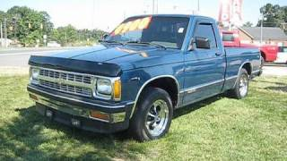 1991 Chevrolet S10 5spd Start Up, Engine, and In Depth Tour