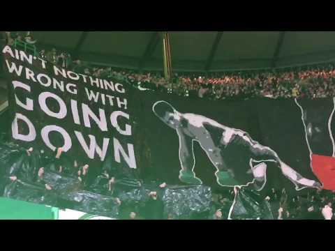 Celtic V Cluj GREEN BRIGADE BANNER