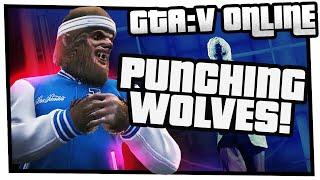 GTA 5 Online Beast vs Slasher - Punching Wolves