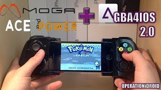 GBA4iOS 2.0: Moga Ace Power iOS controller Gameplay/Review