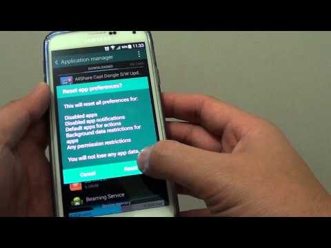 Samsung Galaxy S5: How to Reset All Apps Preferences