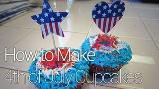 How To Make Independence Day/july 4th Cupcakes