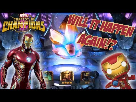 Nanite Crystal Opening (Iron Man Infinity War): Marvel Contest Of Champions
