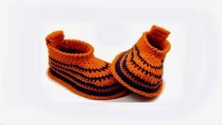 Video DIY crochet baby booties for beginners//Vasilisa download MP3, 3GP, MP4, WEBM, AVI, FLV September 2017