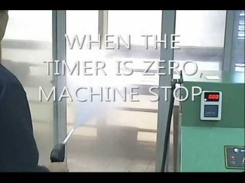 Steam cleaning machine with self service