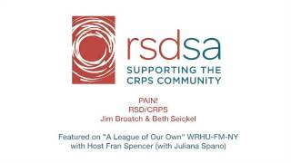 Jim broatch, msw and beth seickel, rn talk about crps rsdsa