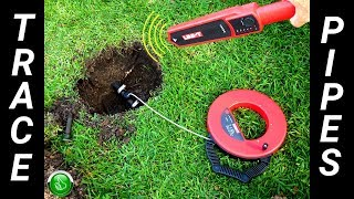 Easily Trace Find Buried Water Sewer Lines & Electrical Pipes